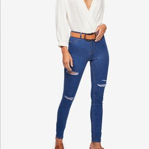 Free People Distroyed  long and lean skinny NWT 27